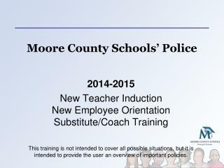 Moore County Schools' Police
