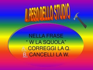 IL PESO DELLO STUDIO