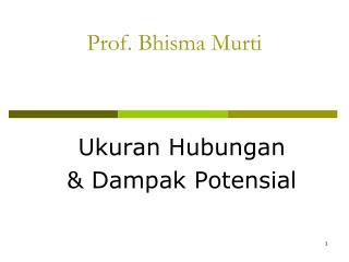 Prof. Bhisma Murti