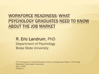 Workforce Readiness: What Psychology Graduates Need to Know About the Job Market