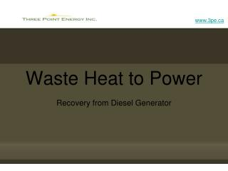Waste Heat to Power