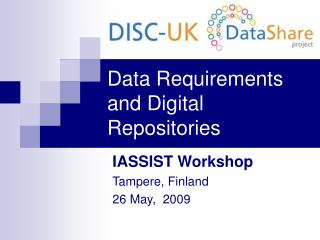 Data Requirements and Digital Repositories