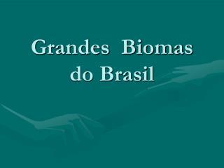 Grandes  Biomas do Brasil