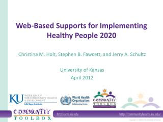 Web-Based Supports for Implementing  Healthy People 2020