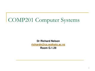 COMP201 Computer Systems