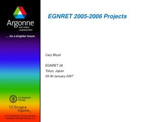 EGNRET 2005-2006 Projects
