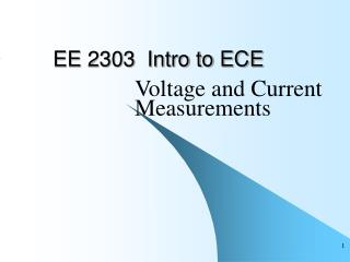 EE 2303  Intro to ECE