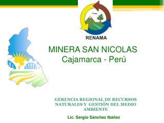 GERENCIA REGIONAL DE RECURSOS NATURALES Y  GESTI N DEL MEDIO AMBIENTE