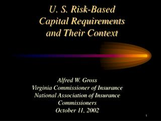U. S. Risk-Based Capital Requirements  and Their Context