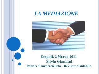 Empoli, 2 Marzo 2011  Silvia Giannini Dottore Commercialista – Revisore Contabile