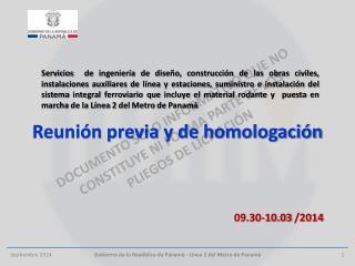 Reunión previa y de homologación
