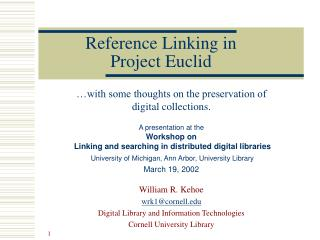 Reference Linking in Project Euclid