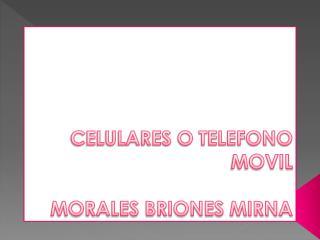 CELULARES O TELEFONO MOVIL MORALES BRIONES MIRNA