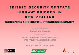 A project undertaken by TRANSIT NEW ZEALAND in conjunction with