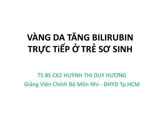 V NG DA TANG BILIRUBIN  TRC TiP  TR SO SINH