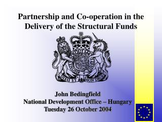 Partnership and Co-operation in the Delivery of the Structural Funds