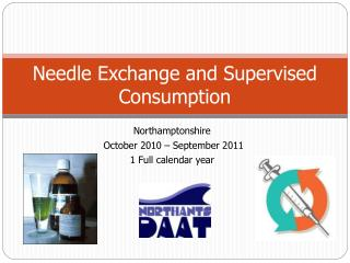 Needle Exchange and Supervised Consumption