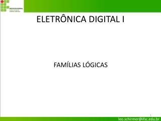 ELETR�NICA DIGITAL I