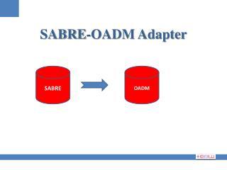 SABRE-OADM Adapter