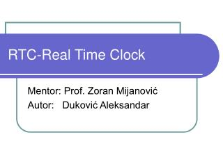 RTC-Real Time Clock