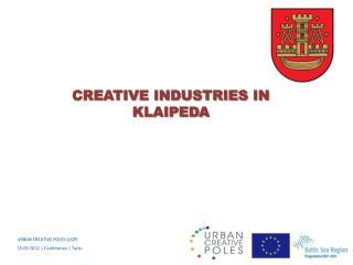 URBAN CREATIVE POLES (UCP)  1 5 ·03·2012 |  Conference |  Tartu
