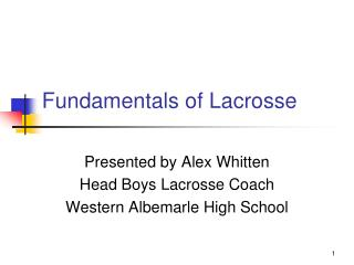 Fundamentals of Lacrosse