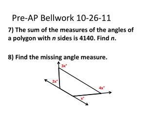 Pre-AP  Bellwork  10-26-11