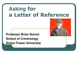 Asking  for  a Letter of Reference