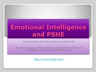 Emotional Intelligence and PSHE