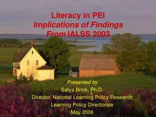 Literacy in PEI Implications of Findings From  IALSS 2003