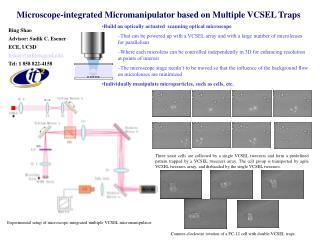 Microscope-integrated Micromanipulator based on Multiple VCSEL Traps
