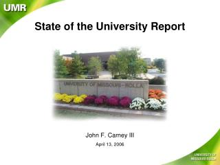 State of the University Report