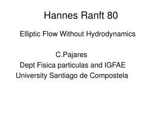 Hannes Ranft 80