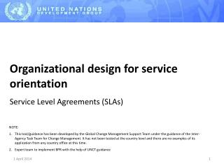 Organizational design for service orientation