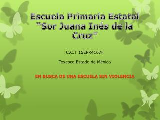 "Escuela Primaria Estatal ""Sor Juana Inés de la Cruz"" C.C.T 15EPR4167F Texcoco Estado de México"