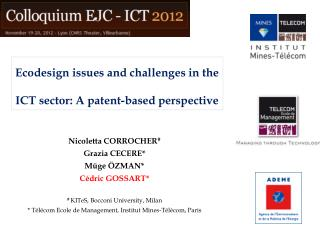 Ecodesign issues and challenges in the ICT sector: A patent-based perspective