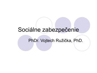 Sociálne zabezpečenie