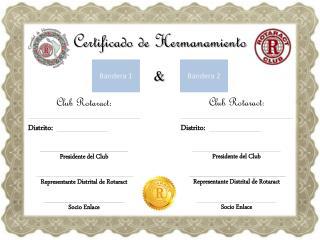 Certificado de Hermanamiento