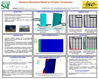 Moisture Simulation Model for Polymer Composites