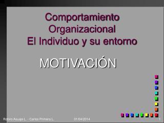 Comportamiento Organizacional El Individuo y su entorno