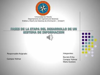 ETAPA DE DESARROLLO DE UN SISTEMA DE INFORMACION