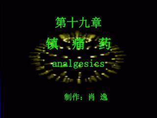 第十九章 镇  痛  药 analgesics