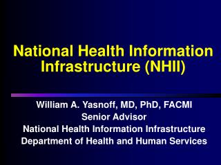 National Health Information Infrastructure NHII