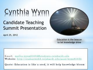 Cynthia Wynn