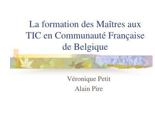 La formation des Ma tres aux TIC en Communaut  Fran aise de Belgique