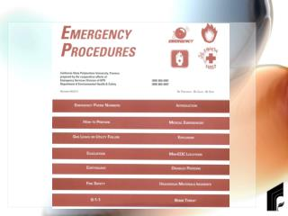 What Your Emergency Procedures Brochure Covers