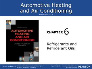 Refrigerants and Refrigerant Oils