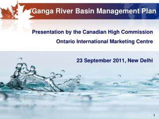Ganga River Basin Management Plan