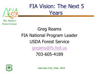 FIA Vision: The Next 5 Years