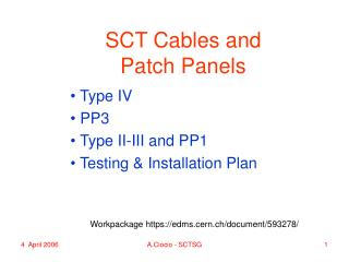 SCT Cables and Patch Panels